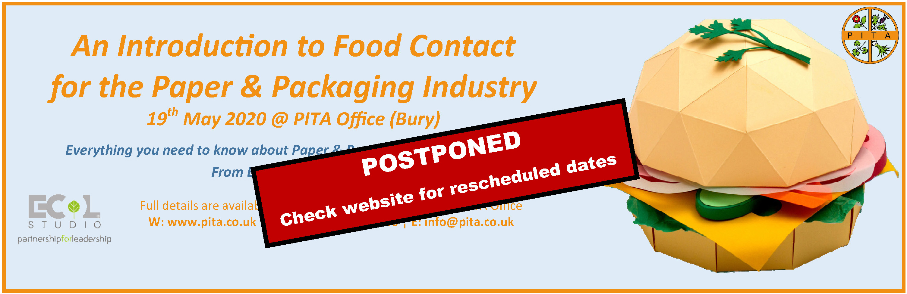 Food Contact Course 2020 update 1 POSTPONED Banner Ad