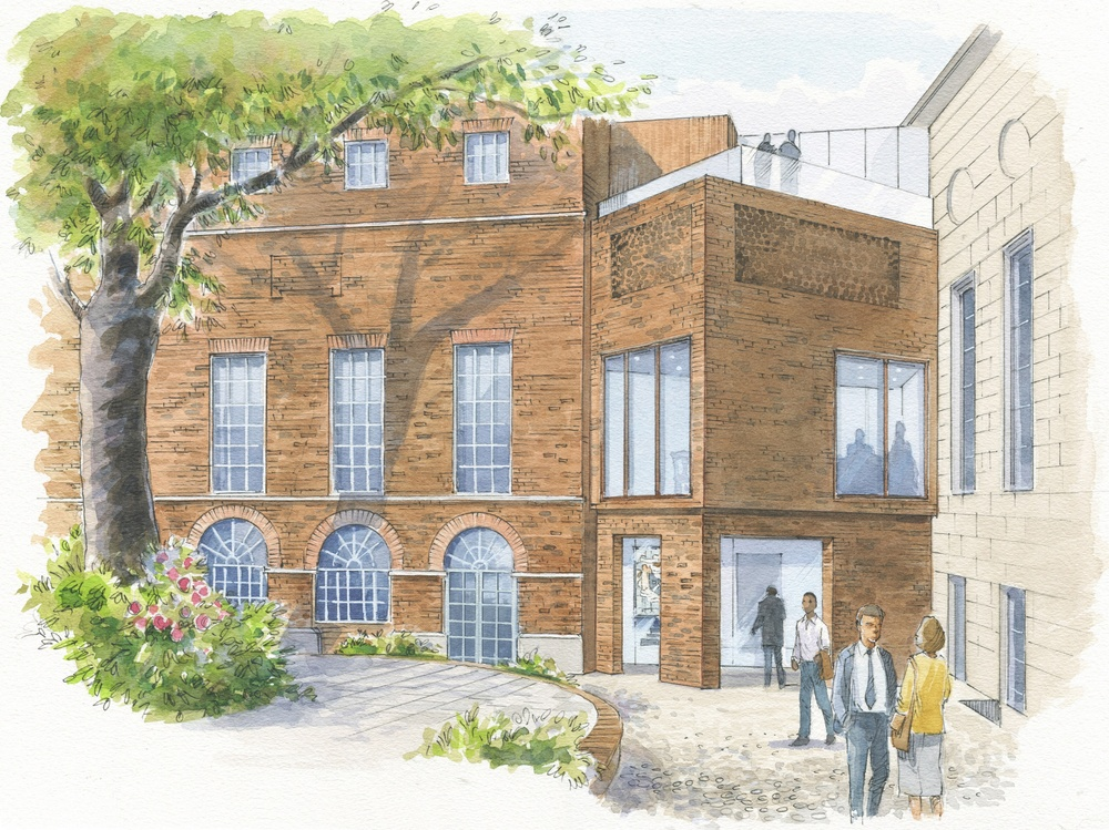 stationers hall Artists impression garden exterior e646